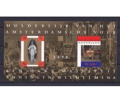 1998 Hollanda Wilhelmina Blok Damgasız**