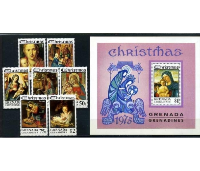 GRENADA ** 1975 CHRISTMAS TAM S.+ BLOK (160414)