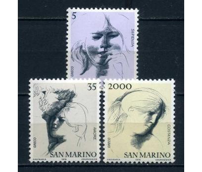 SAN MARİNO  ** 1978 KARA KALEM TAM SERİ (180414)
