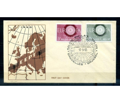 BELÇİKA 1960 EUROPA CEPT  FDC SÜPER (300414)
