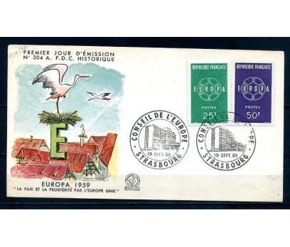FRANSA 1959 EUROPA CEPT  FDC SÜPER (290414)