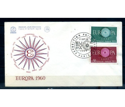 FRANSA 1960 EUROPA CEPT  FDC SÜPER (300414)