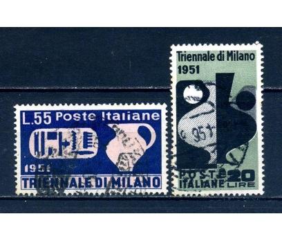 İTALYA DAMGALI 1951 MİLANO FESTİVAL SÜPER (040514)