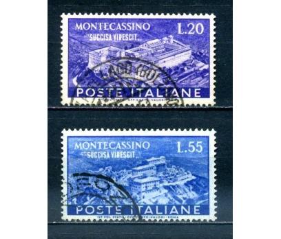 İTALYA DAMGALI 1951 MONTE CASSİNO SÜPER (040514)