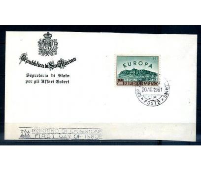 SAN MARİNO 1961 EUROPA CEPT  FDC KARTTA (300414)