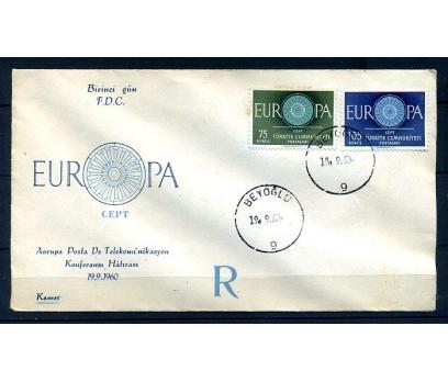 TÜRKİYE 1960 EUROPA CEPT  FDC SÜPER (300414)