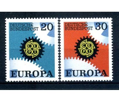 ALMANYA ** 1967 E.CEPT TAM SERİ SÜPER (110514)