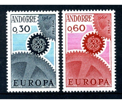 FR.ANDORRA **1967 E.CEPT TAM SERİ SÜPER(110514)