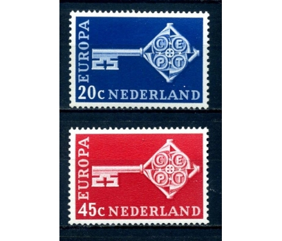 HOLLANDA ** 1968 E.CEPT TAM SERİ SÜPER(110514)