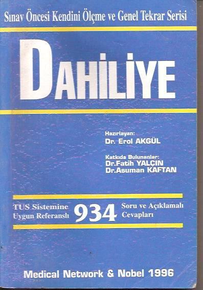 DAHİLİYE-DR.EROL AKGÜL-1996 1