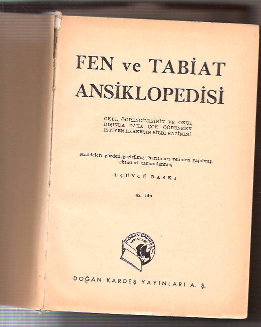 İLKSAHAF&FEN VE TABİAT ANSİKLOPEDİSİ-1960 1