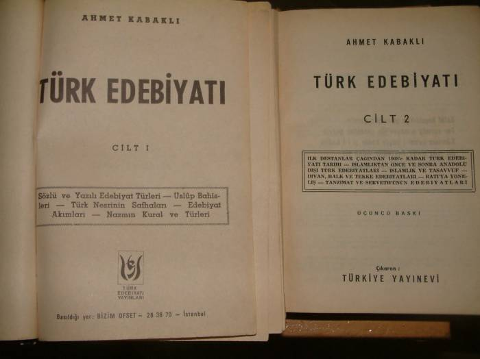 İLKSAHAF&TÜRK EDEBİYATI-AHMET KABAKLI 1