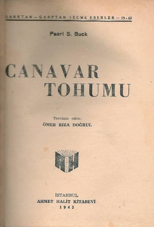 İLKSAHAF@CANAVAR TOHUMU PEARL S.BUCK 1