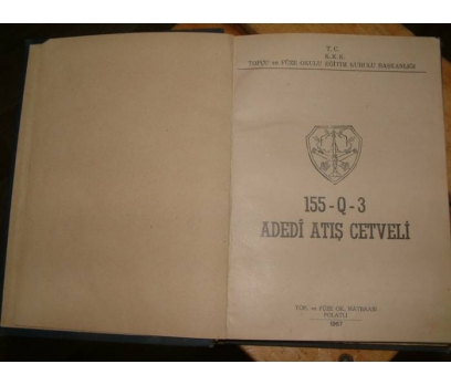 ADEDİ ATIŞ CETVELİ-1967-TOPÇU VE FÜZE OKULU EĞİT 1