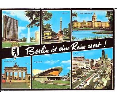 BERLIN IST EINE REISE WEST-KARTPOSTAL-