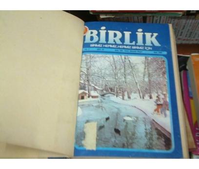 BİRLİK DERGİSİ FASİKÜLLERİ CİLDİNDE-1986-18-28
