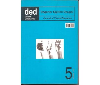 DEĞERLER EĞİTİMİ DERGİSİ-2004-CİLT:2-SAYI-5