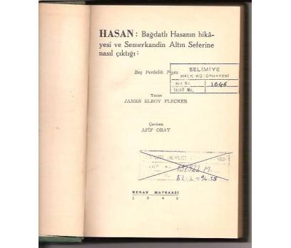 HASAN-JAMES ELROY FLECKER-AFİF OBAY-1945-PİYES