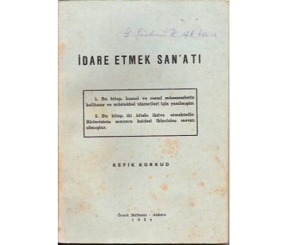 İDARE ETME SANATI-REFİK KORKUD-1954