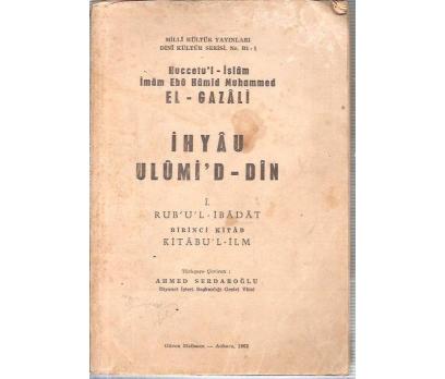 İHYAU ULUMİD-DİN-1CİLT-EL GAZALİ-1963
