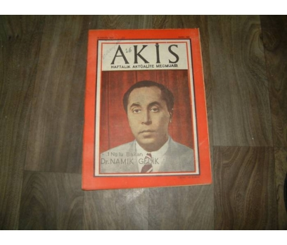 İLK&AKİS-DR.NAMIK GEDİK-1 NOLU BAKAN-1958