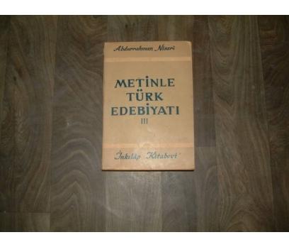 İLKS&METİNLE TÜRK EDEBİYATI III-ABDURRAHMAN NİSA