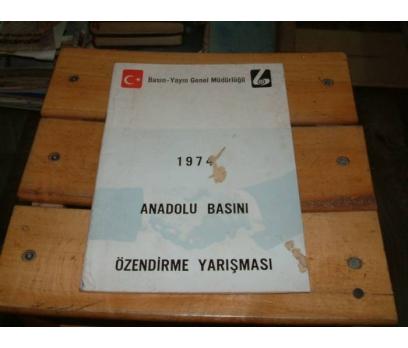 İLKSAHAF&1974 ANADOLU BASINI ÖZENDİRME YARIŞMA