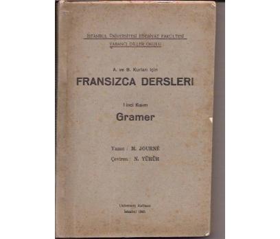 İLKSAHAF&FRANSIZCA DERSLERİ-M.JOURNE-N.YÜRÜR1945