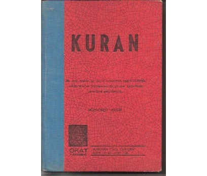 İLKSAHAF&KURAN-1964-OKAT YAY.-----