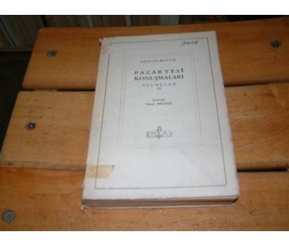 İLKSAHAF&PAZARTESİ KONUŞMALARI 3-SAINTE BEUVE