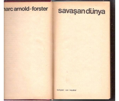 İLKSAHAF&SAVAŞAN DÜNYA-MARC ARNOLD-FORSTER-1975
