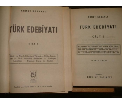 İLKSAHAF&TÜRK EDEBİYATI-AHMET KABAKLI