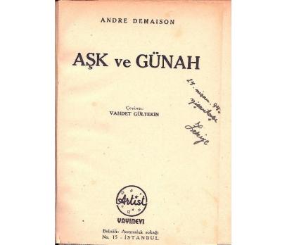 İLKSAHAF@AŞK VE GÜNAHI ANDRE DEMAISON