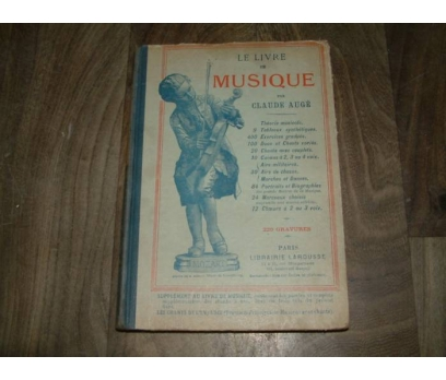 LE LIVRE DE MUSIQUE-CLAUDE AUGE