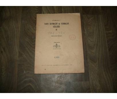 OSMANLI TARİH DEYİMLERİ VE TERİM-SÖZ--III-FAS.22