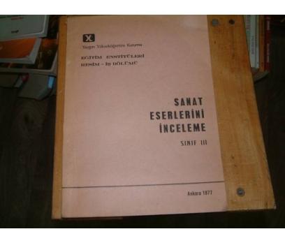 SANAT ESERLERİNİ İNCELEME-SINIF 3-1977