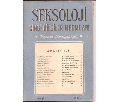 SEKSOLOJİ DERGİSİ-SAYI:33-ARALIK-1951