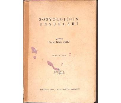 SOSYOLOJİNİN UNSURLARI-KAZIM NAMİ DURU-1964