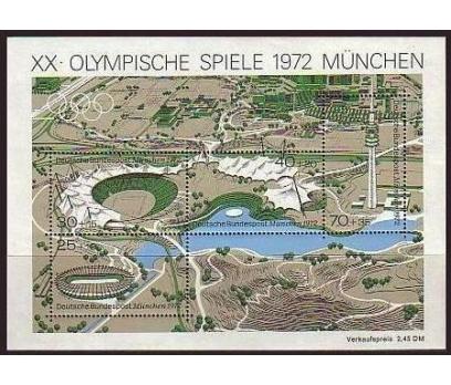 Almanya 1972 Damgasız Münih Olimpiyat Oyunları Blo