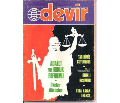 İLKSAHAF&DEVİR DERGİSİ-S:12-1973-ADALET VE HUK