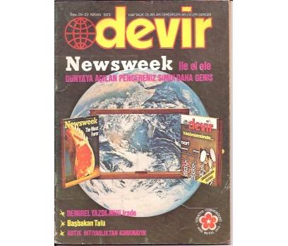 İLKSAHAF&DEVİR DERGİSİ-S:25-1973-NEWSWEEK İLE