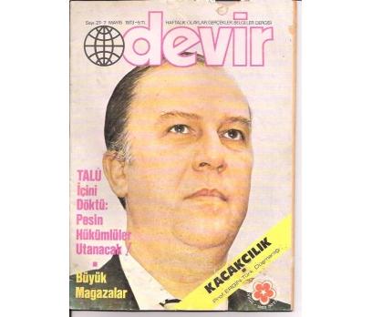 İLKSAHAF&DEVİR DERGİSİ-S:27-1973-TALÜ İÇİNİ DÖ