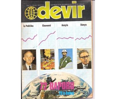 İLKSAHAF&DEVİR DERGİSİ-S:9-1973-72 raporu