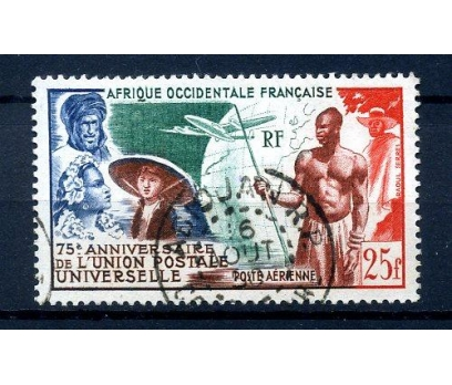 AFR.OCC.FRANSA DAMGALI 1949 UPU TAM SERİ (230814)