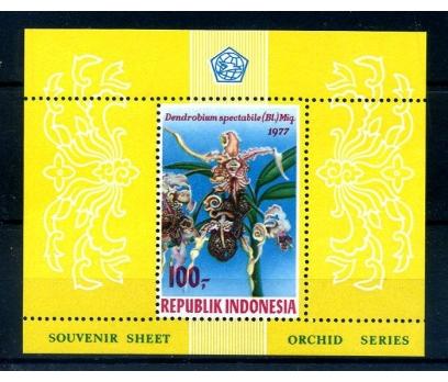 ENDONEZYA ** 1977 ORKİDELER  BLOK (250814)