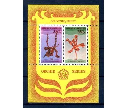 ENDONEZYA ** 1980 ORKİDELER  BLOK (250814)