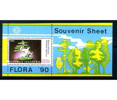 ENDONEZYA ** 1990 FLORA 90 BLOK (250814)