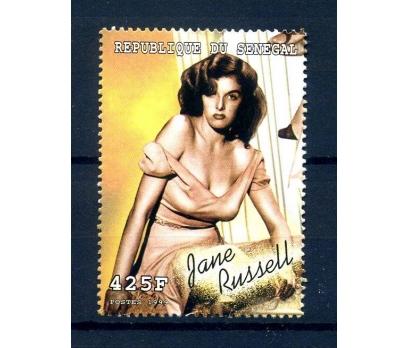 SENEGAL**1999 SİNEMA & JANE RUSSEL TEK PUL(240814)