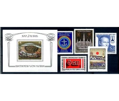 AVUSTURYA ** 1983  1 BLOK + 5 TAM SERİ (280814)