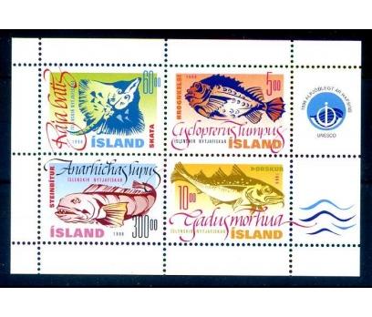 İZLANDA ** 1998 BALIKLAR BLOK (260814)